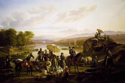 Painters from Lyon Stopping at Barbe Island, 1824--Giclee Print