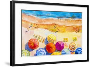 Seascape Top View Colorful of Lovers by Painterstock