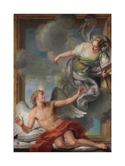 Painting Awakening Sleeping Genius-Charles Antoine Coypel-Giclee Print