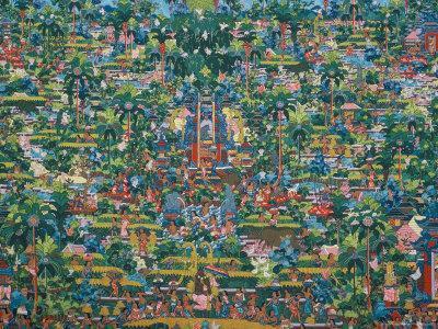 Painting bali museum denpasar island of bali indonesia