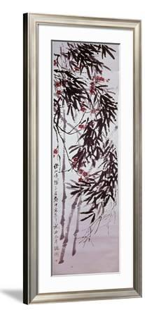 Painting by Ch'I Pai-Shih: 'Bamboo and Plum Blossom - Spring in the Cycle of the Four Seasons'--Framed Giclee Print