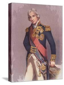 Painting by John Hoppner, of English Admiral Lord Horatio Nelson