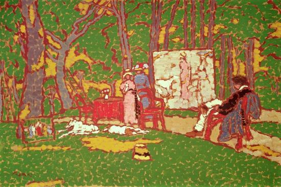 Painting Lazarine and Anella in the Park. it's Hot, 1910-Jozsef Rippl-Ronai-Giclee Print