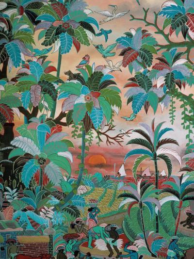 Painting, Neka Museum, Ubud, Island of Bali, Indonesia, Southeast Asia-Bruno Barbier-Photographic Print