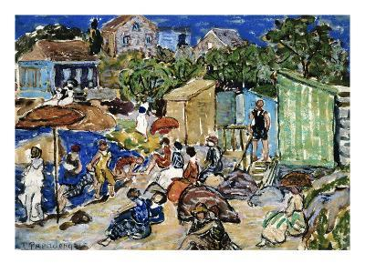 Painting of a Beach Scene by Maurice Brazil Prendergast-Geoffrey Clements-Giclee Print