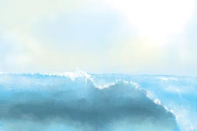 Painting Of A Great Sea Wave-stari-Photographic Print