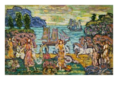 Painting of a Seaside Scene by Maurice Prendergast-Geoffrey Clements-Giclee Print