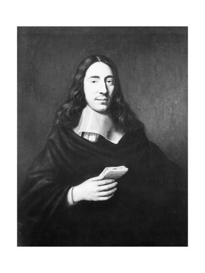 Painting of Dutch Philosopher Spinoza--Giclee Print