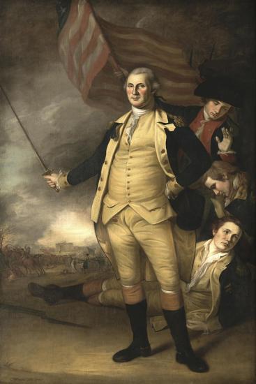 Painting of General George Washington at the Battle of Princeton-Stocktrek Images-Art Print