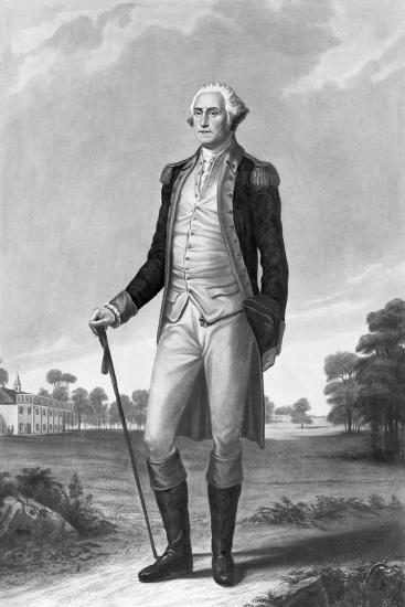 Painting of George Washington by George Hicks--Giclee Print