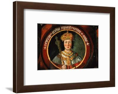 Painting of King Henry VI of England (1422-1461) at Chichester Cathedral, England, 20th century-CM Dixon-Framed Photographic Print