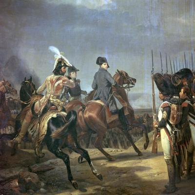 Painting of Napoleon at the Battle of Jena, 19th Century-Horace Vernet-Giclee Print