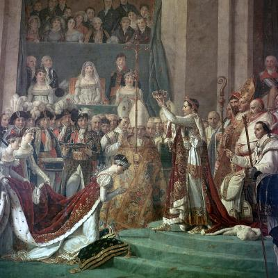 Painting of Napoleon Buonaparte and Empress Josephine, 18th Century-Jacques-Louis David-Giclee Print