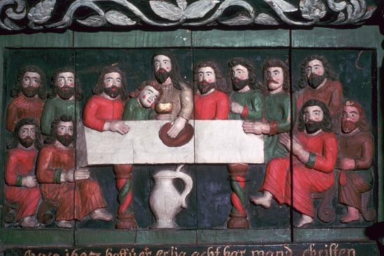 Painting of the last supper. Artist: Unknown-Unknown-Giclee Print