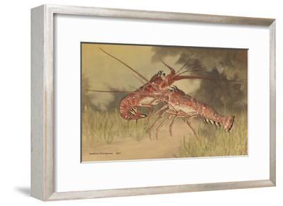 Painting of Two Dueling Crayfish-Hashime Murayama-Framed Giclee Print