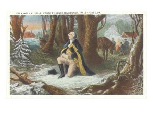 Painting of Washington at Valley Forge