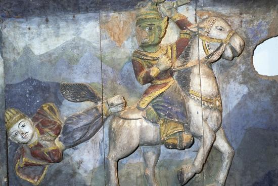 Painting on Wood from Ban Boran, Thailand--Giclee Print
