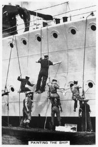 Painting the Hull of a Ship, 1937