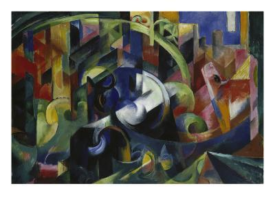 Painting with Cattle I, 1913/1914-Franz Marc-Giclee Print