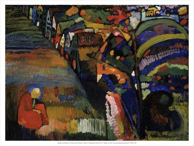 Painting with Houses, 1909-Wassily Kandinsky-Art Print