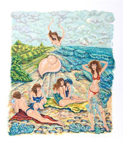 Painting with Sand-Rochelle Steiner-Collectable Print