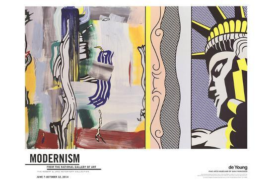 Painting with Statue of Liberty-Roy Lichtenstein-Art Print