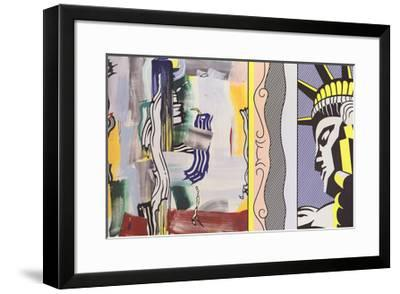 Painting with Statue of Liberty-Roy Lichtenstein-Framed Art Print