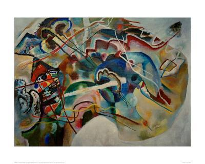 Painting with White Border, 1913-Wassily Kandinsky-Giclee Print