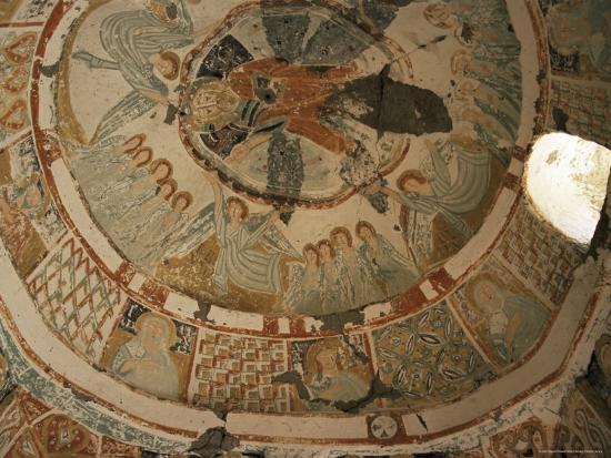 Paintings in Rock Cut Church, Ihlara Gorge, Cappadocia, Anatolia, Turkey, Eurasia-David Poole-Photographic Print