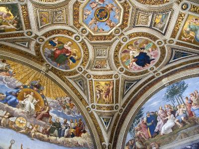 Paintings in Stanza della Segnatura at Vatican Palace-Paul Seheult-Photographic Print