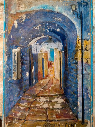 Paintings of a building, Hod HaSharon, Israel--Photographic Print