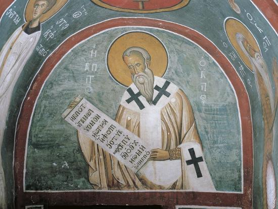 Paintings of a Saint Holding a Letter--Giclee Print