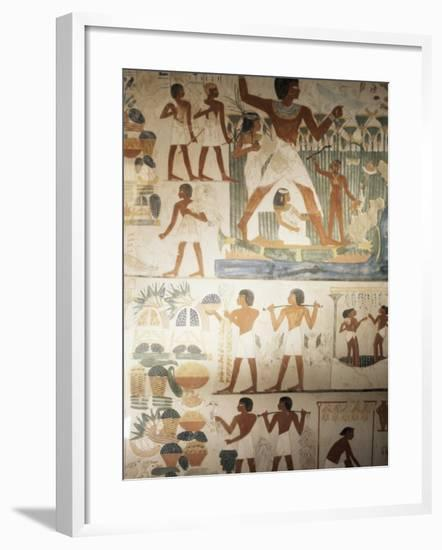 Paintings of Scenes of Everday Life in the Tomb of Nakht-Jack Jackson-Framed Photographic Print