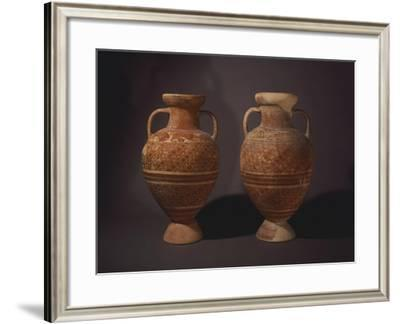 Pair of Amphorae of the Anforoni Squamati Group--Framed Giclee Print