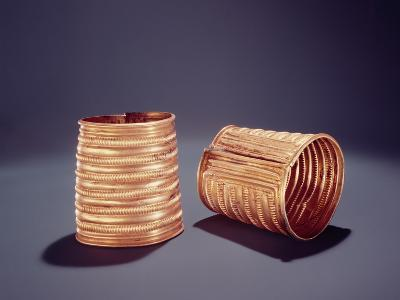 Pair of Armlets, from Derrinboy, County Offaly, Middle Bronze Age, 1400-1200 Bc- Bronze Age-Giclee Print