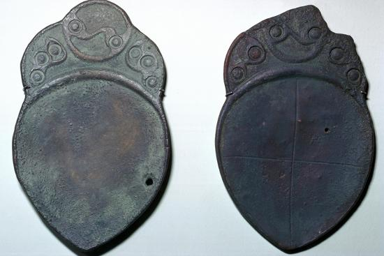 Pair of bronze ritual iron age spoons. Artist: Unknown-Unknown-Giclee Print