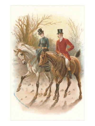 Pair of English Riders--Art Print
