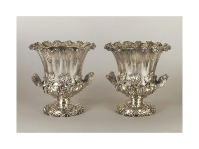 Pair of George Iv Style Silver Wine Coolers--Giclee Print
