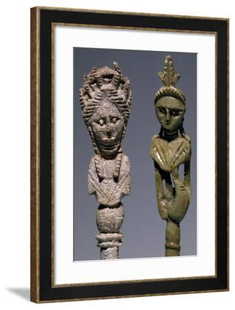 Pair of Ivory Hair Clips Uncovered in Grave in Zadar, Croatia--Framed Giclee Print