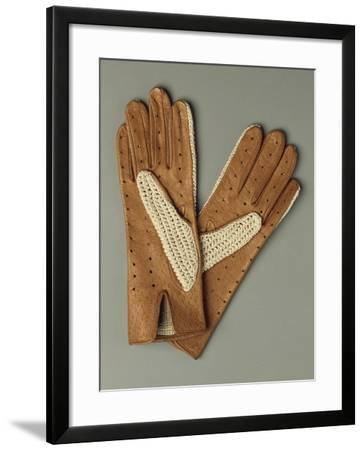 Pair of Leather and Lace Gloves--Framed Giclee Print