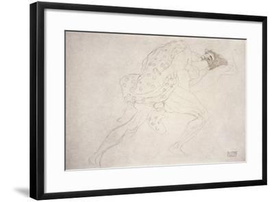 Pair of Lovers-Gustav Klimt-Framed Giclee Print