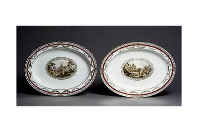 Pair of Oval Plates--Giclee Print