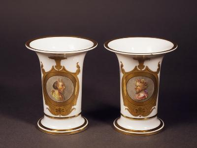 Pair of Trumpet-Shaped Vases, 1820--Giclee Print