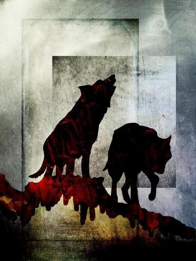 Pair of Wolves-LightBoxJournal-Giclee Print