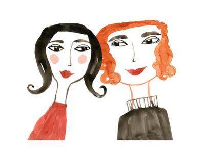 Pair of Women with Heads Together