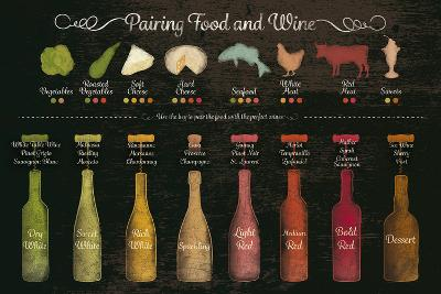 Pairing Food and Wine-The Vintage Collection-Giclee Print