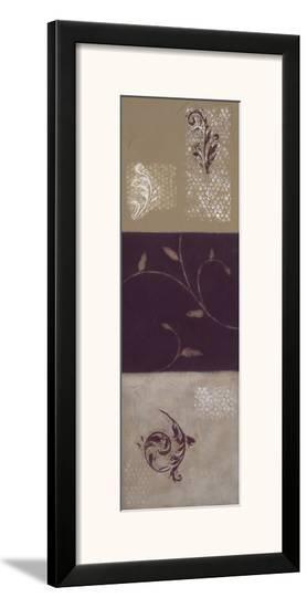 Paisley and Plum I-Rita Vindedzis-Framed Giclee Print