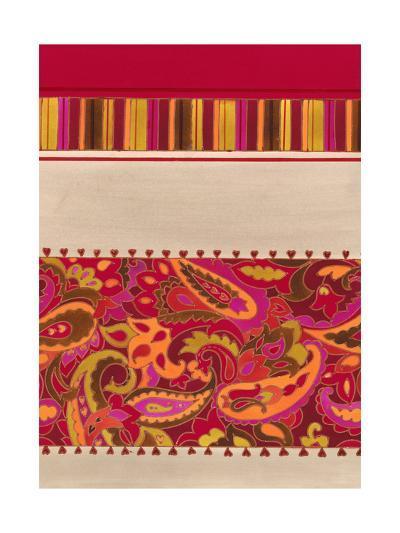 Paisley and Stripe Pattern--Art Print