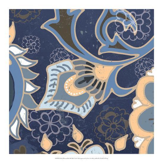 Paisley Blossom Blue III-Leslie Mark-Art Print