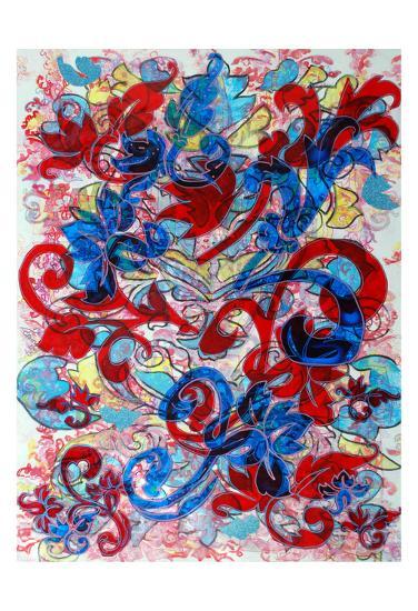 Paisley Brocade-Lisa Mintz-Art Print